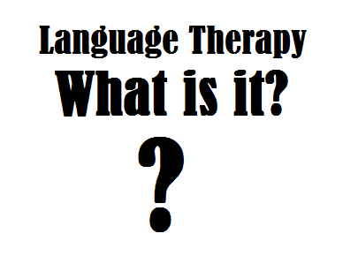 what is language therapy