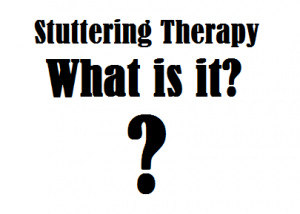 what is stuttering therapy