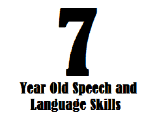 7 Year Old Speech And Language Skills