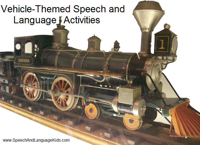 Vehicle-Themed Speech and Language Activities