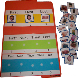 Sequencing Board with Following Directions Card Set