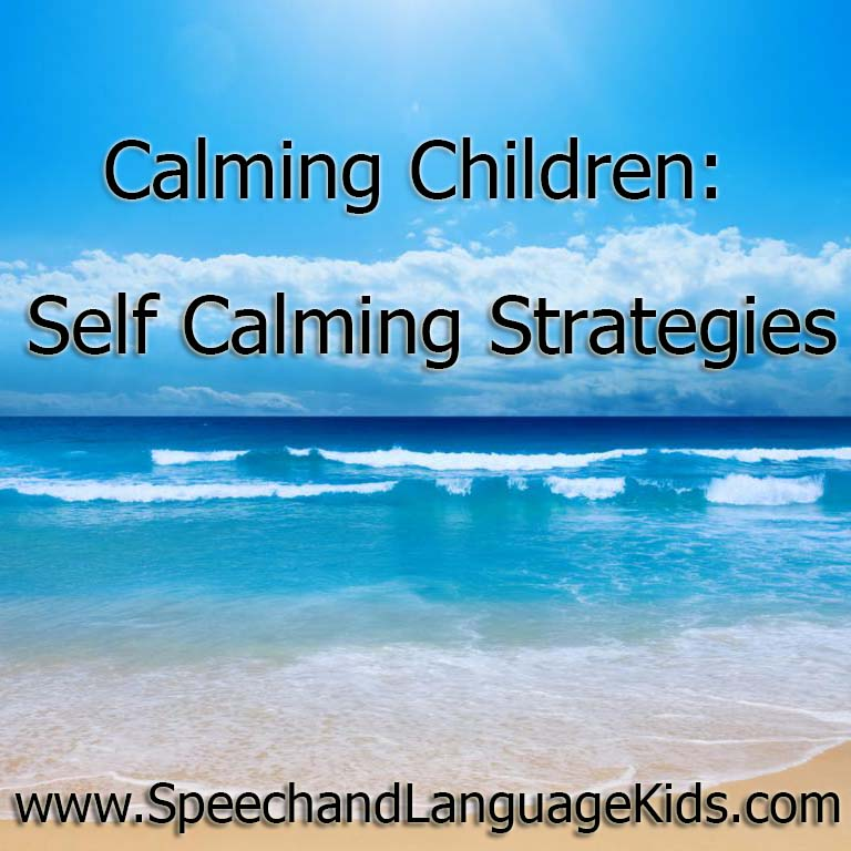 Calming Children Self Calming Strategies  Speech And