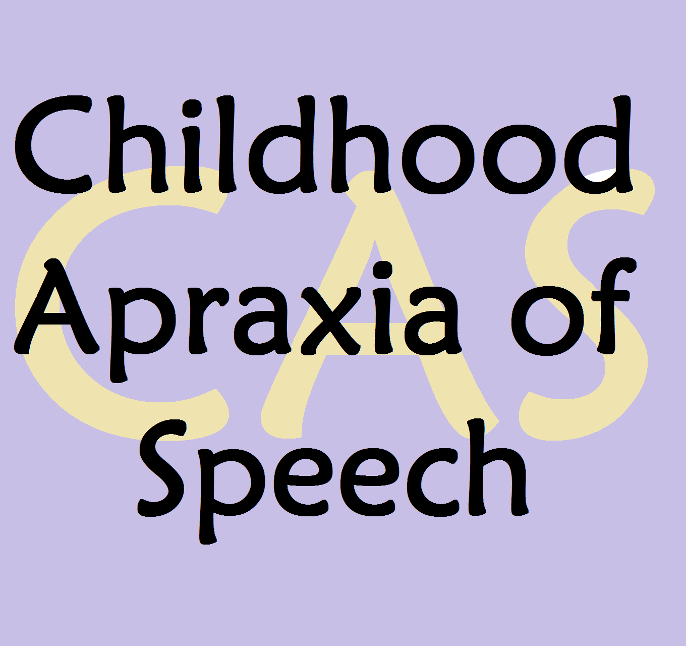 childhood apraxia of speech resource page