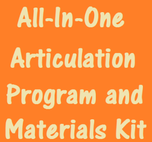 all-in-one articulation program and materials kit