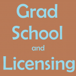 graduate school and SLP licensing