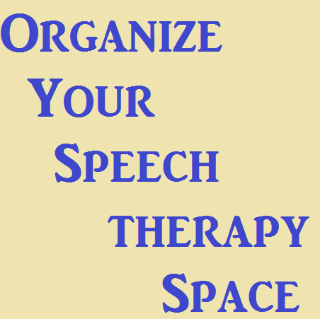 organize speech therapy