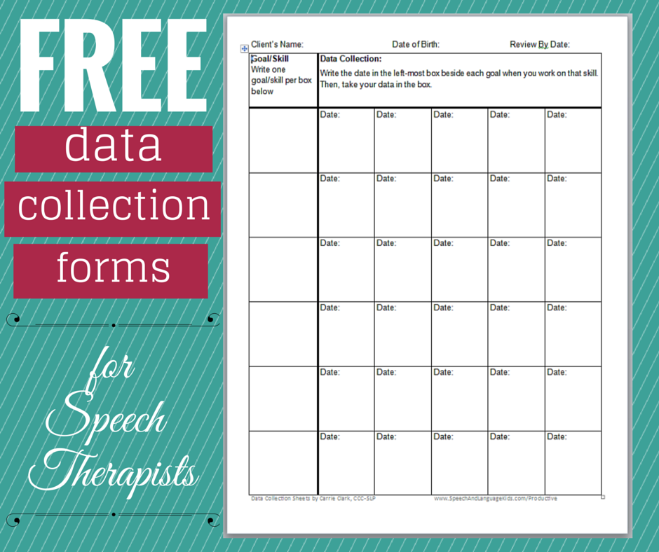 data collection forms for speech therapists