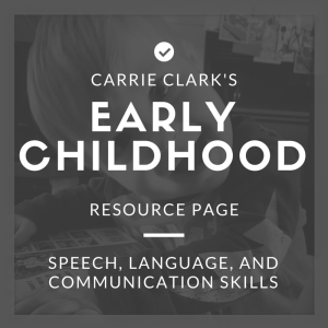 early childhood resource page