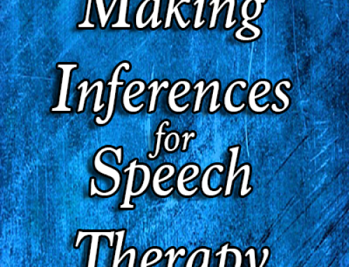 Making Inferences For Speech Therapy