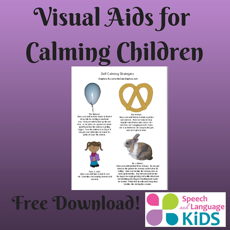 Visual Aids for Teaching Children to Self-Calm