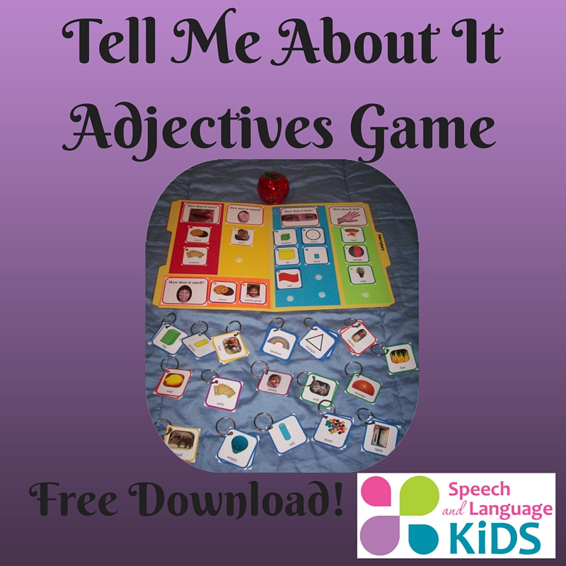 Tell Me About It Adjectives Game