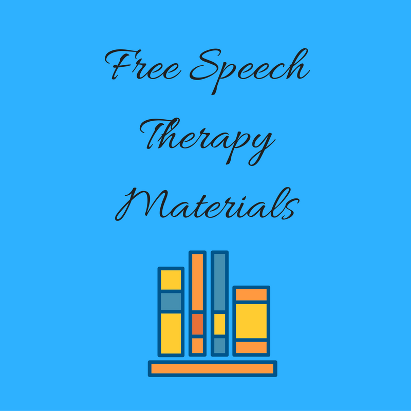 image relating to Free Printable Speech Therapy Materials identify Totally free Speech Treatment Content - Speech And Language Children