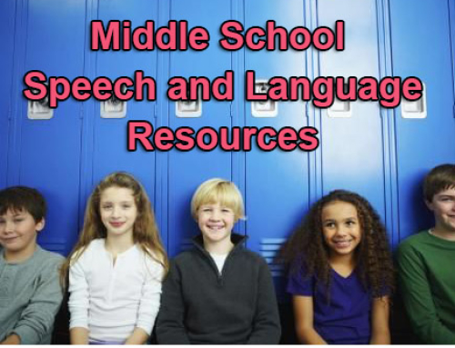 Middle-School Speech and Language Resources