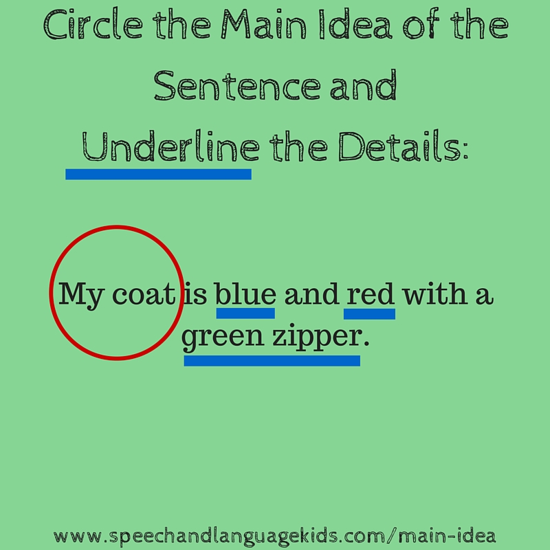 Helping Children to Identify Main Ideas and Supporting Details – Main Idea and Details Worksheets