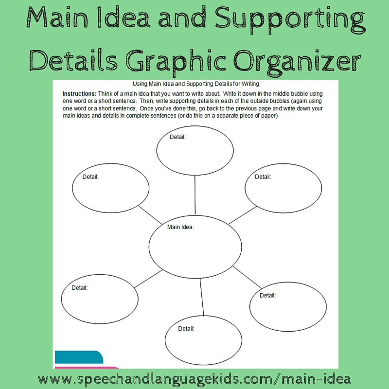 Helping Children To Identify Main Ideas And Supporting Details When