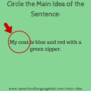 how to find topic sentence and main idea
