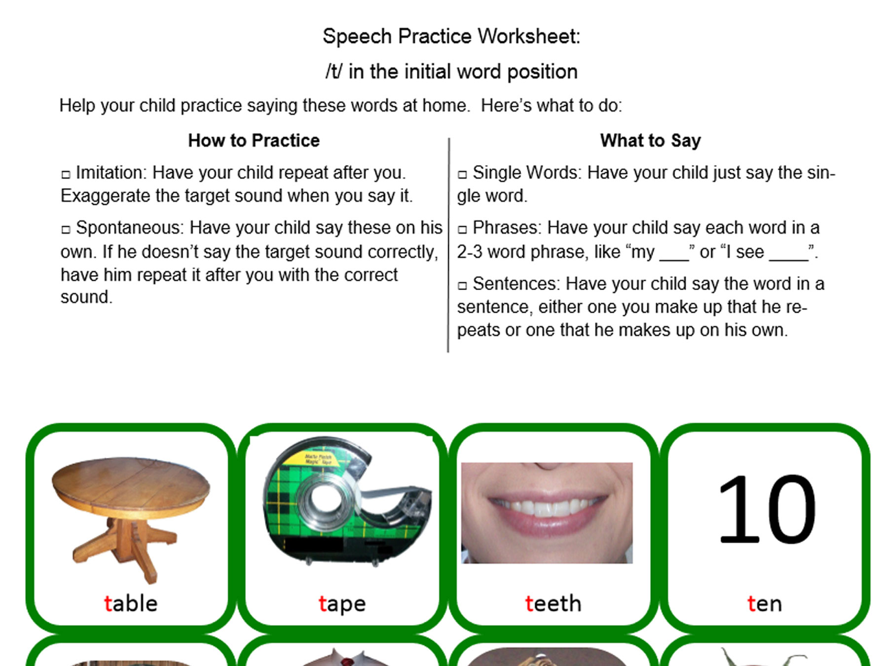 Speech-Practice-Worksheet