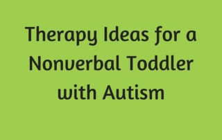 Therapy Ideas for a Nonverbal Toddler with Autism