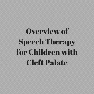 Overview of Speech Therapy for Children with Cleft Palate