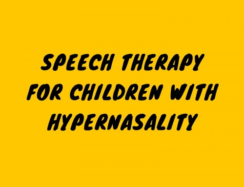 Speech Therapy for Children with Hypernasality