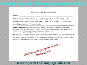 Speech Therapy Success Graphic