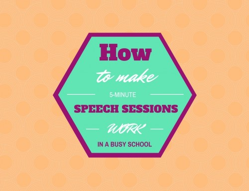 How to Make 5-Minute Speech Sessions Work in a Busy School