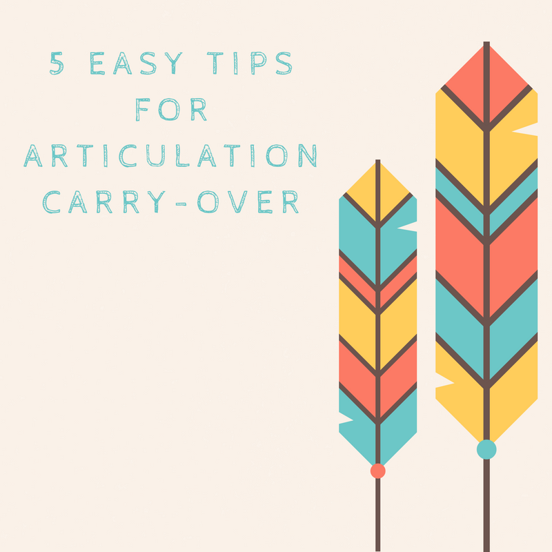 5 Easy Tips For Articulation Carry Over Speech And Language Kids