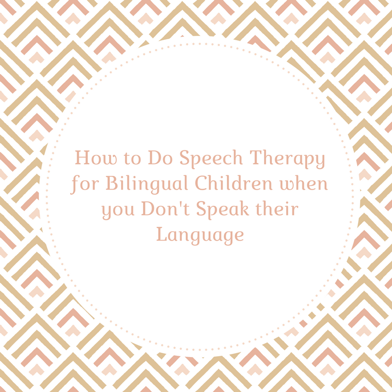 How to Do Speech Therapy for Bilingual Children when you Don't Speak their Language