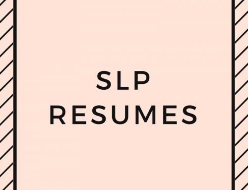 SLP Resumes