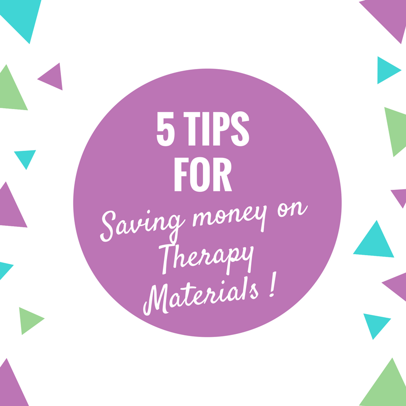 5 Tips for Saving Money on Therapy Materials