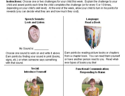Summer Speech Challenge for Parents