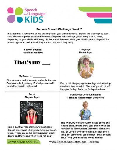 Speech Sound Resource Page - Speech And Language Kids